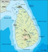 srilanka_topographical vector map
