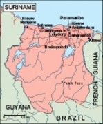 surinam_geography vector map