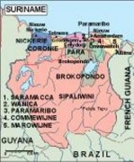 surinam_political vector map