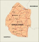 swaziland_countrymap vector map
