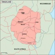 swaziland_geography vector map