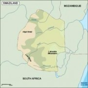 swaziland_topographical vector map