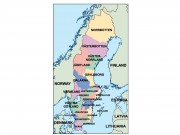 sweden powerpoint map