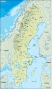 sweden_topographical vector map
