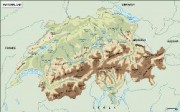 switzerland_topographical vector map