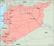 syria_geography vector map