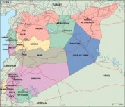 syria_political vector map