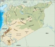syria_topographical vector map