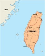 taiwan_countrymap vector map