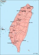 taiwan_geography vector map
