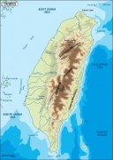 taiwan_topographical vector map