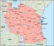 tanzania_geography vector map