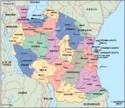 tanzania_political vector map