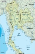 thailand_topographical vector map