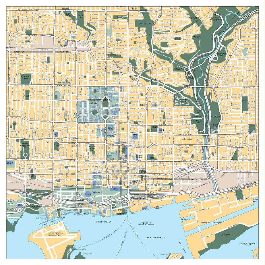 toronto vector map