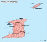 vector map trinidadytobago_geography