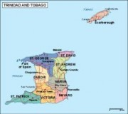 vector map trinidady tobago_political