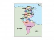 tunisia powerpoint map