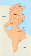 tunisia_countrymap vector map