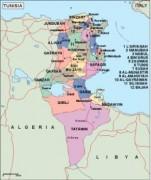 tunisia_political vector map