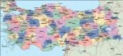 turkey_political vector map