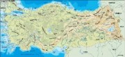 turkey_topographical vector map