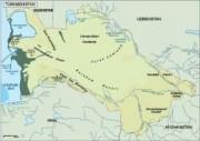 turkmenistan vector map