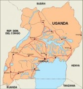 uganda_countrymap vector map