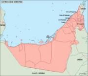united arab emirates vector map