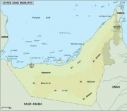 united arab emirates_topographical vector map