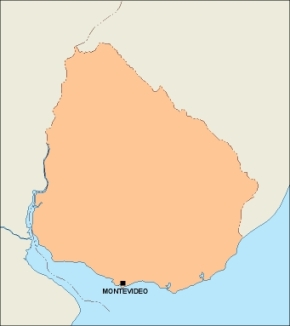 Download Uruguay Vector Map As Digital File Purchase Online Our - Uruguay blank map