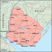 uruguay_geography vector map