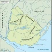 uruguay_topographical vector map