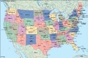 usa political vector map
