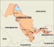 uzbekistan_countrymap vector map