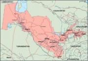 uzbekistan_geography vector map