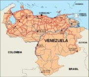 venezuela_countrymap vector map