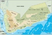 yemen_topographical vector map