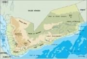 yemen_topographical vector map