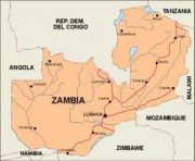 zambia_countrymap vector map
