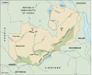 zambia_topographical vector map