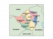 zimbabwe powerpoint map