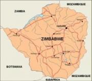 zimbabwe_countrymap vector map
