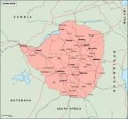 zimbabwe_geography vector map