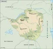 zimbabwe_topographical vector map